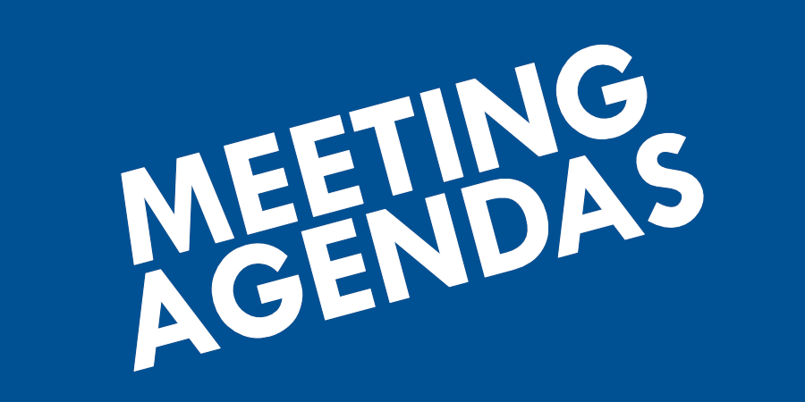 See Meeting Agendas for City Meetings
